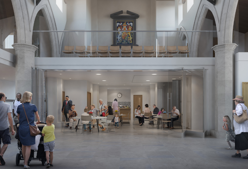 Architects visualisation of St Peter & St Paul Church Bassingbourn