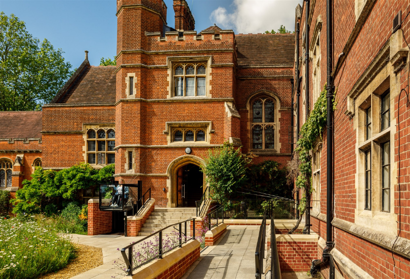 Architect designed disabled access to listed Cambridge college