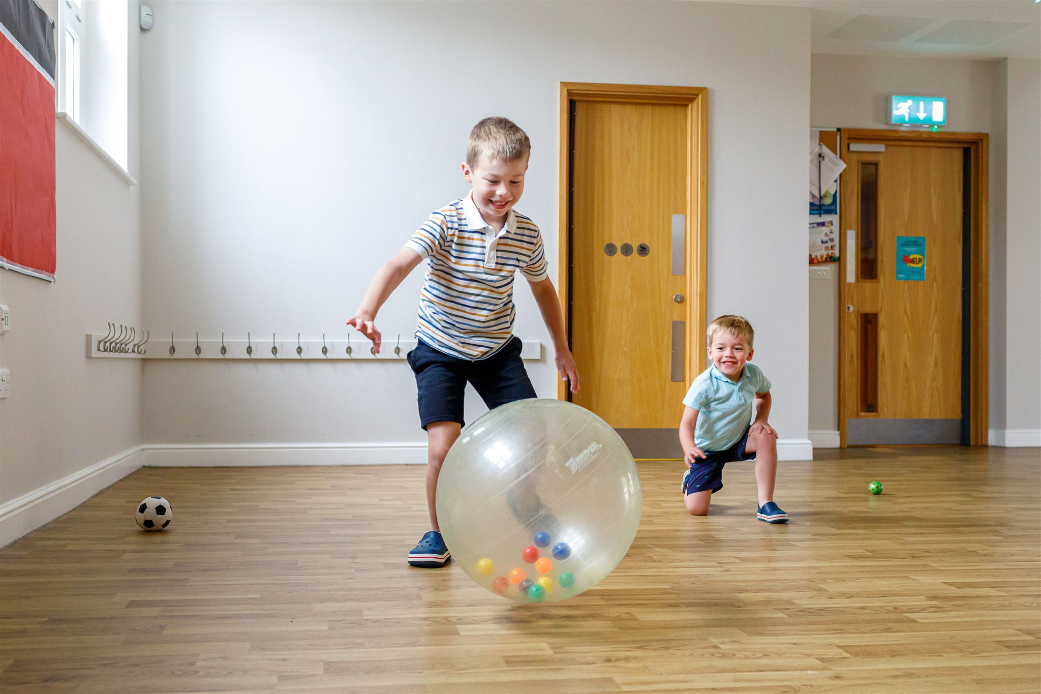 Kids playing in playgroup space at St Andrew's Centre in Histon Cambridgeshire