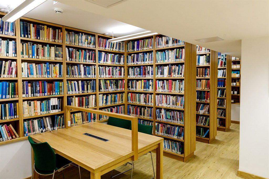 Improvements to basement library at Ridley College Cambridge