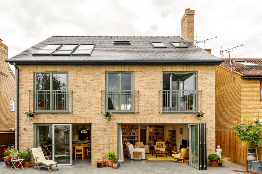 Compact self build eco house in Cambridge designed by Archangel Architects