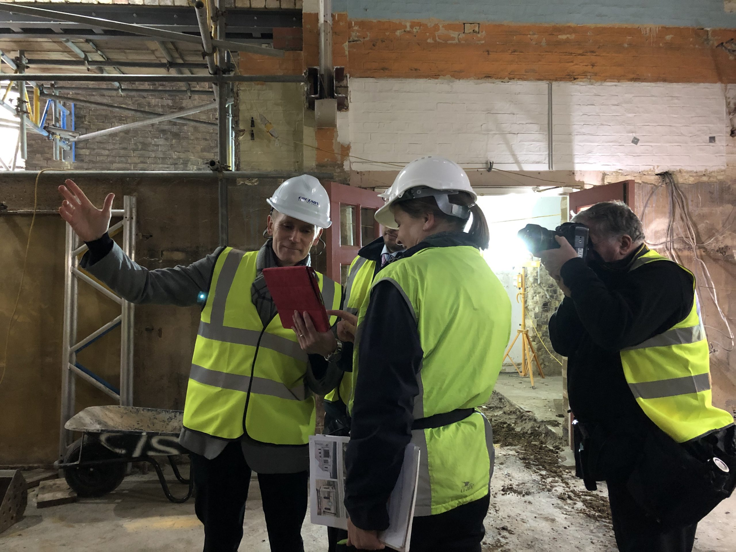 Monitoring construction at the remodelling of Downing Place URC Church Cambridge